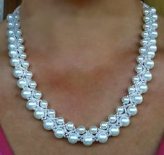 Free Pattern For White Beaded Necklace Calla