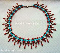 Free Pattern For Beaded Necklace Sheila