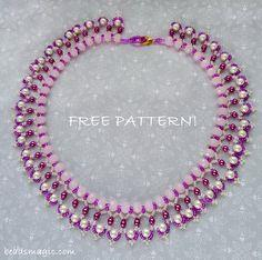 Free Pattern For Beaded Necklace Mariposa