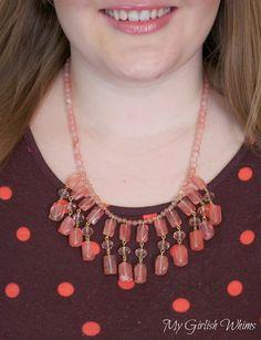 DIY Beaded Dangle Necklace