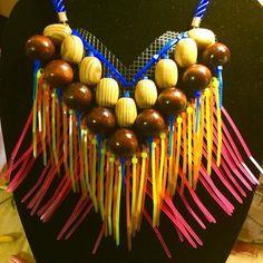 Beaded ZIP TIE Statement Necklace