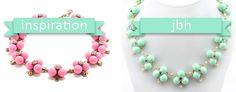 J. Crew Inspired Mint Necklace