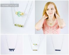 Alphabet necklaces