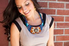 Anthropologie Beaded Bib Necklace