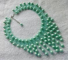 Beaded Necklace Fresh Mint