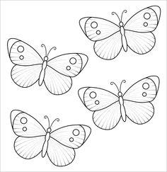 butterfly template simple