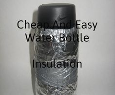 Easy and cheap bottle insulation