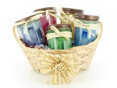 Jelly Jar Container Chunk Candles