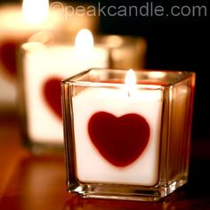 Heart Embed Candles