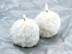 Snowball Candles