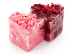 Double Heart Chunk Candle