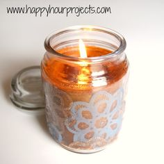 PAINTED CANDLE