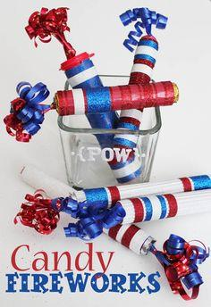 Candy Fireworks with American Crafts