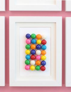 DIY Framed Candy
