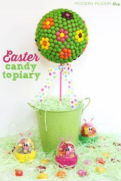 Easter Candy Topiary Centerpiece
