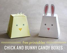 Chick and Bunny candy boxes