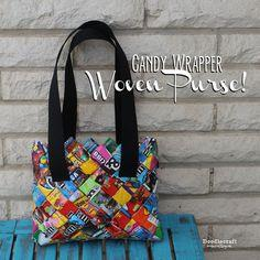 CANDY WRAPPER Woven Purse/Bag