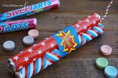 Patriotic candy firecrackers