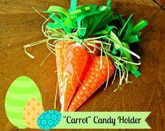Spring Easter Carrot Candy Holder