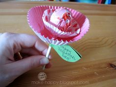 Valentine's Day Lollipop Flower Craft