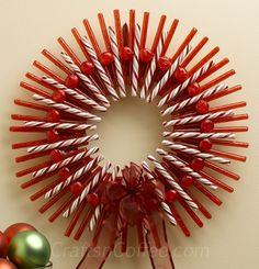 Make a Peppermint Stick Christmas Wreath