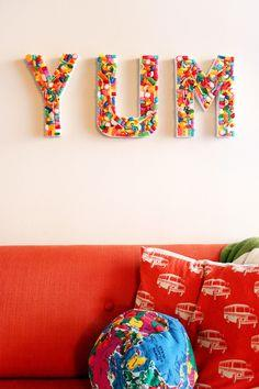 DIY Candy YUM Sign