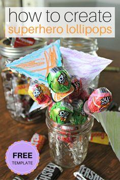 Create Superhero Lollipops