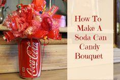 Soda Can Candy Bouquet