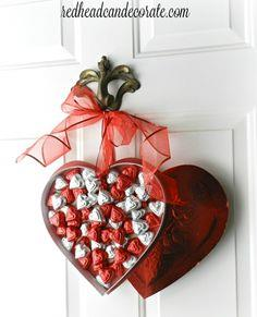 Chocolate Heart Box Wreath