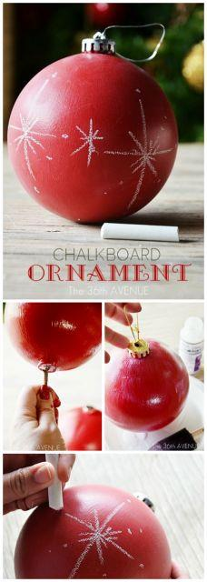 DIY Chalkboard Ornament