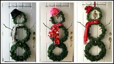 DIY Versatile Snowman Wreath