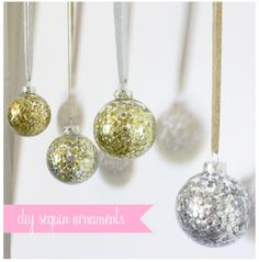 Sequin Holiday Ornaments... - Made By Girl