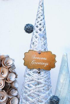 Vintage style cream paper ornaments
