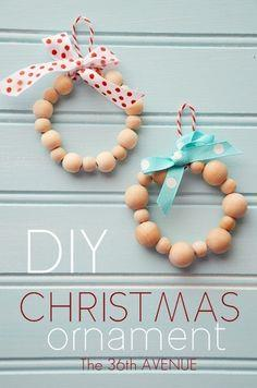 DIY Wood Bead Ornaments