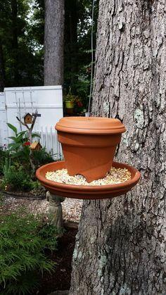 DIY Clay Pot and Saucer Bird Feeder