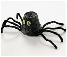 Halloween Clay Pot Spider