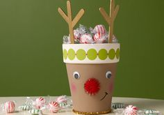 Cute And Crafty Reindeer Pot