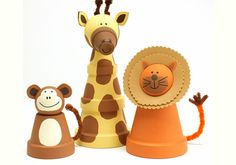 Craft Painting - Clay Pot Animals