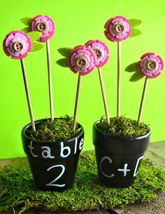 DIY Chalkboard Flower Pot Favors