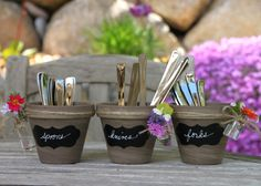 Garden Inspired Utensil Holders