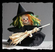 Clay Pot Craft - Halloween Witch