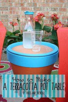 Make a Terracotta Pot Table
