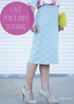 Mint Lace Skirt Tutorial