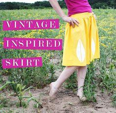 vintage inspired skirt tutorial
