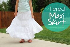 Tiered Maxi Skirt Tutorial
