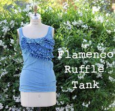 Flamenco Ruffled Tank