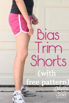 Bias trimmed shorts for women