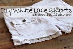 lace to shorts DIY Tutorial