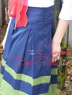 The Crayon Box Pleat Skirt: Tutorial