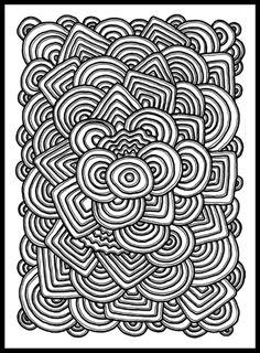 Psychedelic Pattern Coloring page